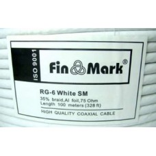 FinMark RG-6 white 100m